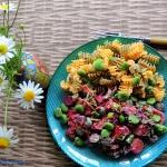 Kolorowy warzywny talerz
