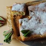 Budyniowe ciasto z rabarb...