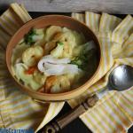 Kokosowa zupa z krewetkam...