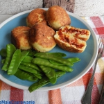 Racuchy mięsno - serowe