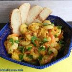 Krewetki z mango i curry...