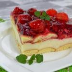 Ciasto grysikowe z galare...