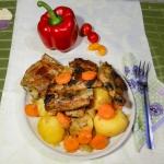 Żeberka z warzywami –...