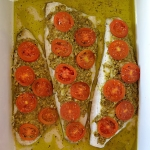 Ryba z pesto i pomidorkam...