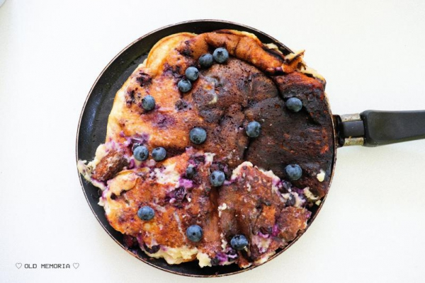 Proteinowy omlet z borówkami | Protein omelet with blueberries