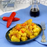 Stir-fry z ananasa
