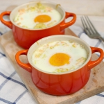 Jajka zapiekane z porem...
