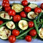 Salatka z fasolki, grilow...