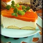 Ciasto z musem brzoskwini...