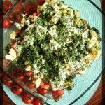 Salatka warstwowa z broku...