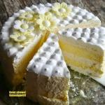 Tort bezowy z cytrynowym...
