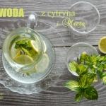 Woda z cytryną i mietą...