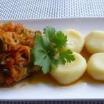 Schab duszony w warzywach