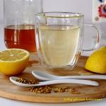 Woda z miodem i cytryną...