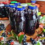 Sok z aronii i winogron...