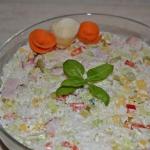 Salatka ryzowa z papryka