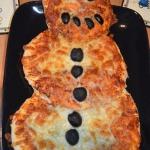 Pizza bałwanek