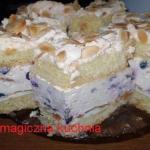 Ciasto z bezami i borowka...