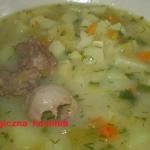 Zupa porowa na podrobach