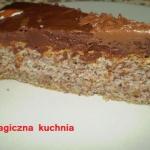 Tort orzechowy z czekolad...