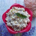 Salatka ryzowa z porem