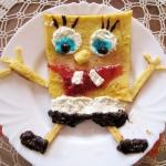 Omlet spongebob kanciasto...