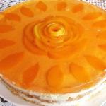 Tort serowy z brzoskwinia...
