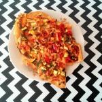 Pizza z cukinia i papryka...