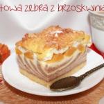 Jogurtowa zebra z brzoskw...