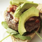 BECON BURGER WITH AVOCADO