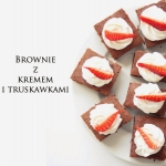 BROWNIE WITH CREAM AND...