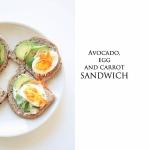 Sandwich / z marchewką,...