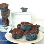 Kakaowe muffinki z rabarb...