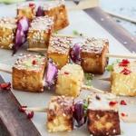 Szaszlyki z tofu czosnkow...
