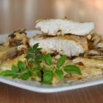 Filet kurczaka z pieczark...