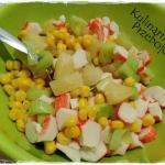 Salatka z surimi, ananase...
