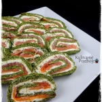 Spinach roll with smoked...