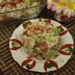 Salatka z brokulem ryzem ...