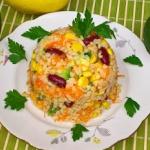 Salatka z awokado i kasza...