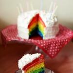 rainbow cake. urodziny w...