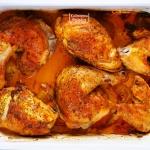 Rumiany kurczak i dużo...