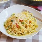 Słynne spaghetti aglio...