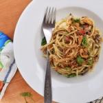Spaghetti z anchois i...