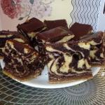 Ciasto marmurkowe - zebra