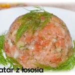 Tatar z łososia z oliwą