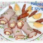 Ruloniki z szynki