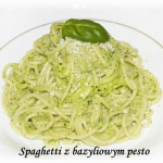 Spaghetti z bazyliowym...