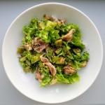 Zielona salata z szynka p...