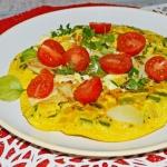 Serowy omlet z...