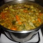 Zupa z młodej kapusty.